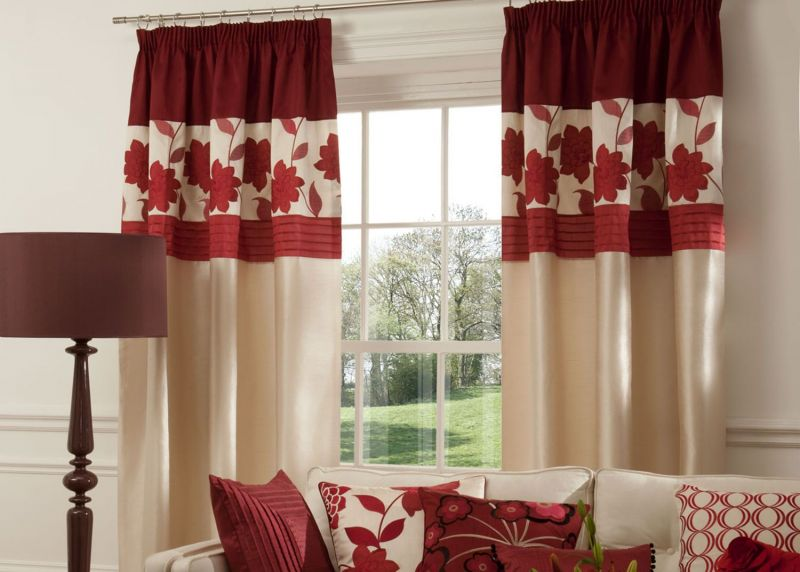 living-room-curtain-design-with-maroon-and-cream-color-ideas-for-living-room-interior