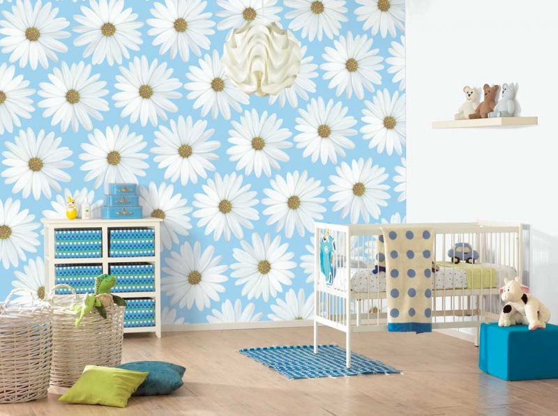 1441802148_wall-design-idea-blue-white-flower-toddlers-bedroom-ideas