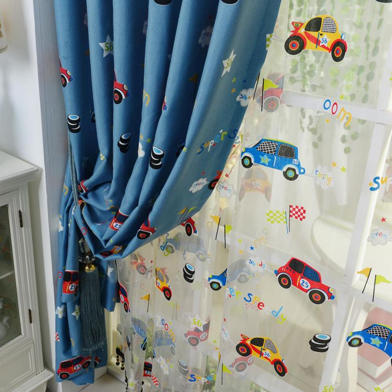 custom-blue-cartoon-car-boys-room-nursery-curtains-cmt13757-2
