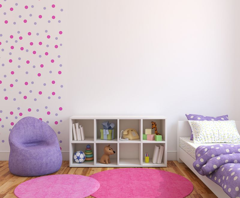 Colorful playroom interior. 3d render.