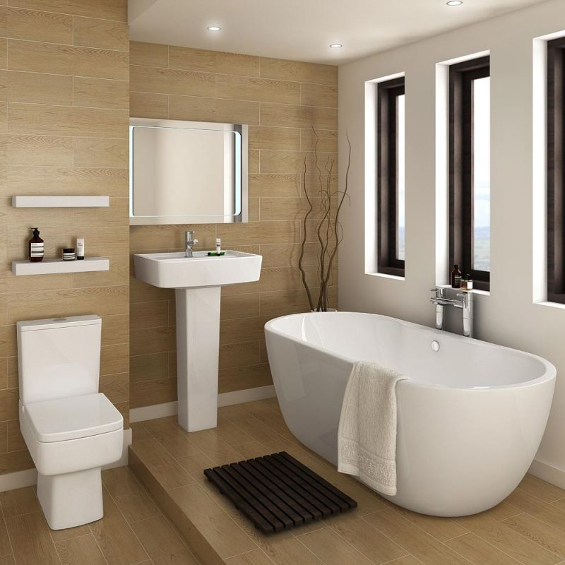 double-door-cabinet-level-storage-drawers_small-beige-bathroom-ideas_clear-blue-stained-walls_four-white-bath-mats_white-wall-color