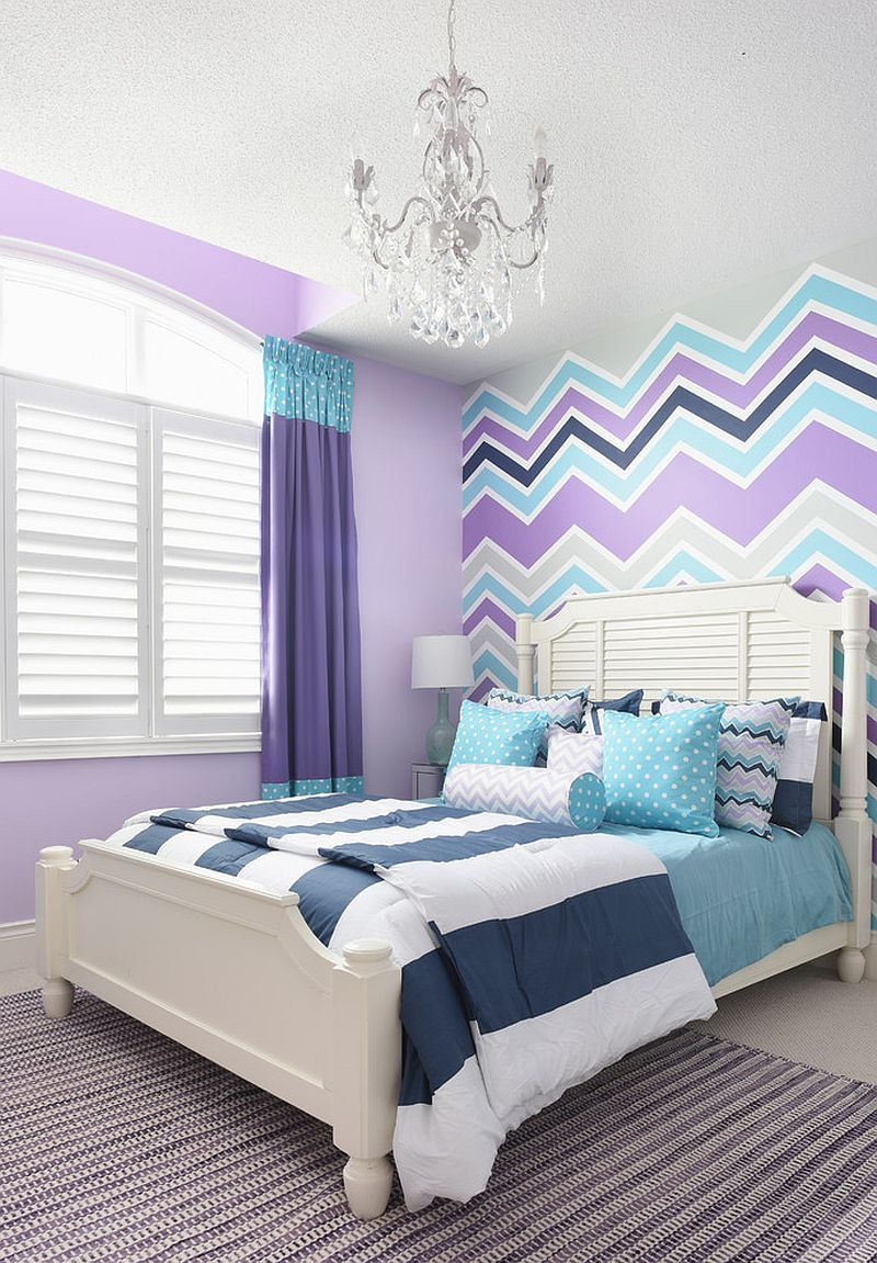 gorgeous-girls-bedroom-in-violet-aqua-and-gray