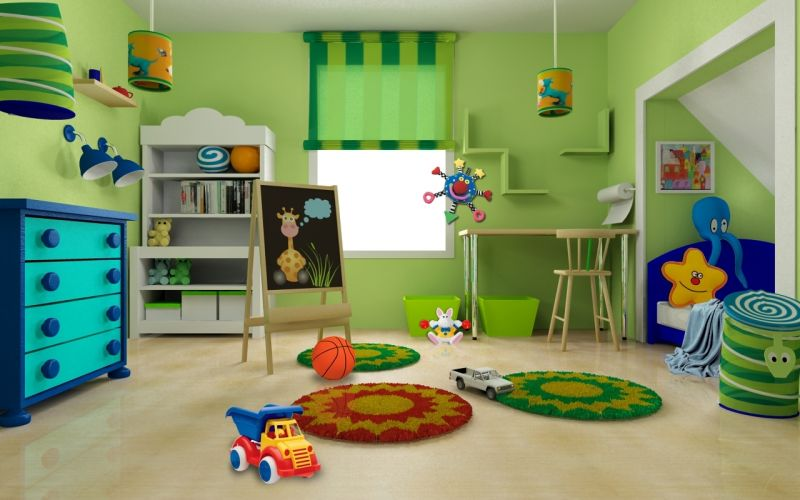 Amusing Kids Play Room White Wood Toddler Table And Chair Mint throughout Kids Room Green - Design Decor