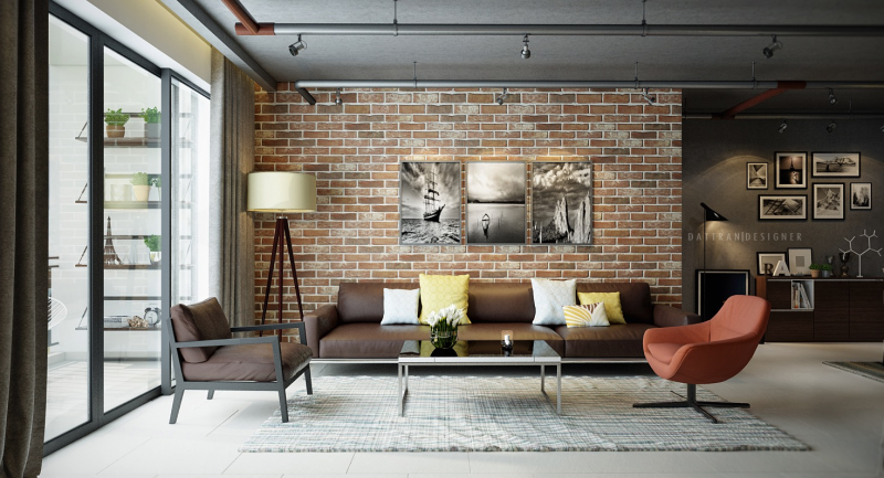 exposed-brick-wall-together-with-nice-looking-house-interior-decorating-ideas-as-additional-graceful-home-design-tips-19