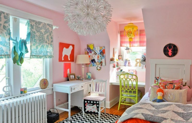 houzz-chandeliers-with-clectique-chambre-denfant