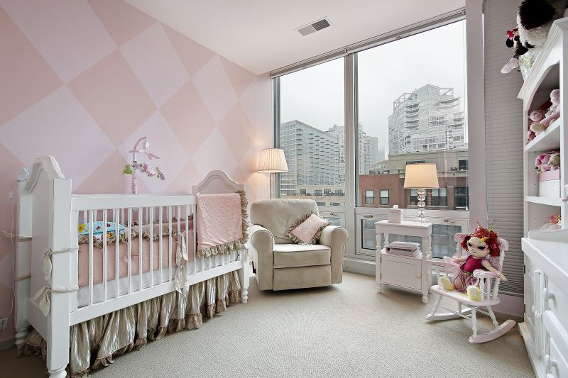 Baby's room in condo with city view